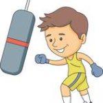 punching a boxing bag